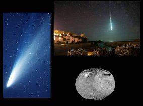 Você sabe a diferença entre Cometa, Meteoro e Asteroide?
